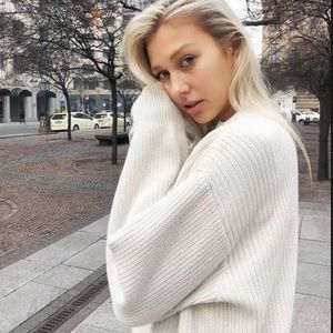 Brandy Melville cream oversized Brianna sweater